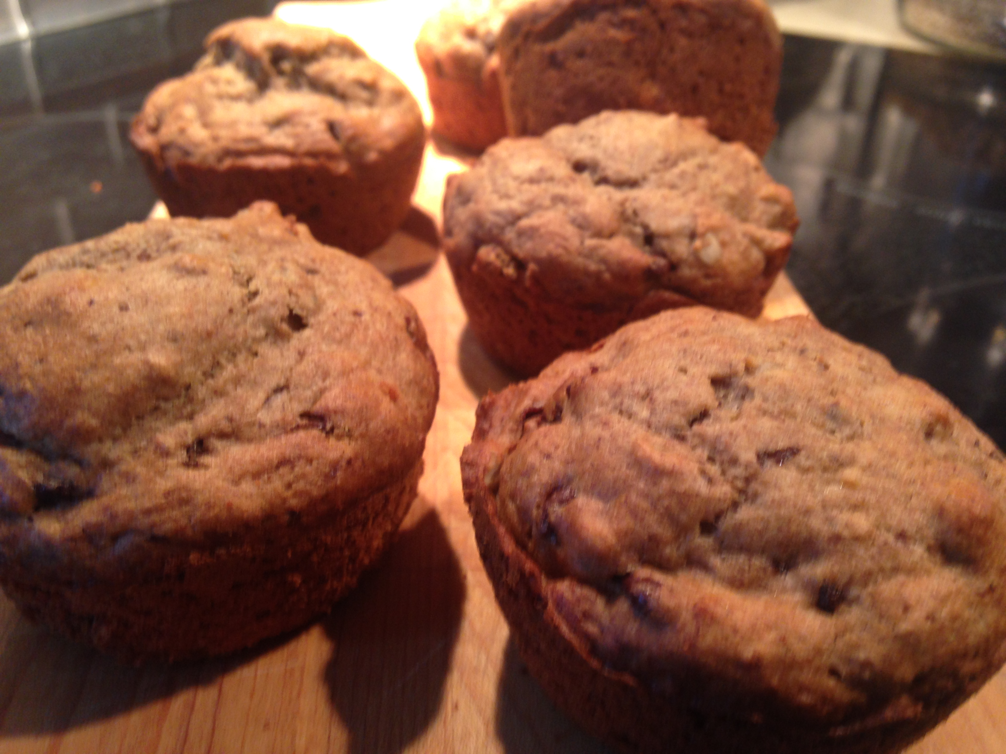 Banana Chocolate Chip Muffins — A Healthy Treat!